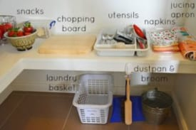 Lunchboxes and a Montessori style Kitchen 1