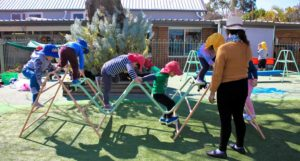 Beverly Montessori children in playground