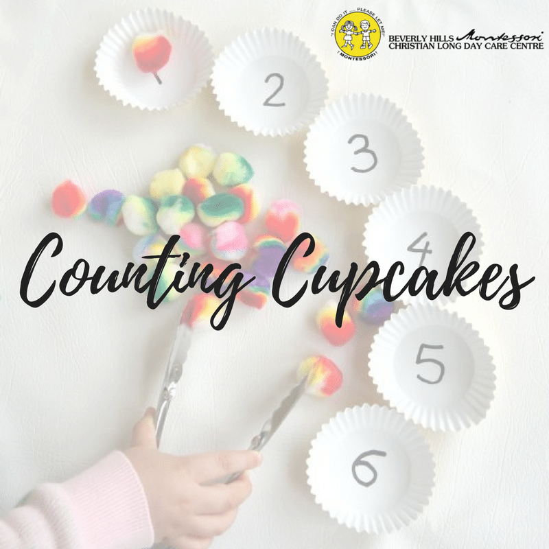 Montessori DIY: Cupcake Counting