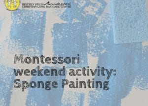 Montessori sponge painting activity
